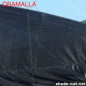 Shade net installed in a field