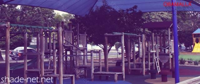 raschel mesh obamalla installed on park.