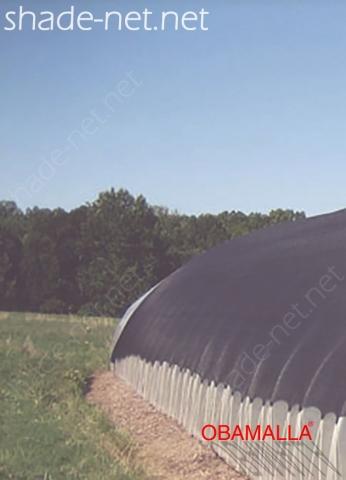 Raschel net protecting crops on the field.